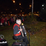 Steve playing for Xmas lights switch on in Washington